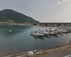 横島漁港の大波止