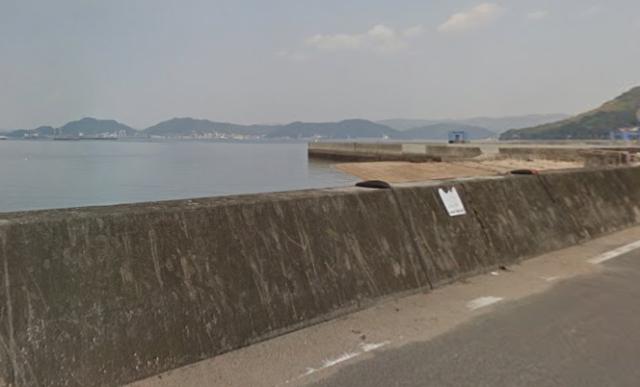 広島キジハタポイント 福山市内海町 横田港 横の護岸