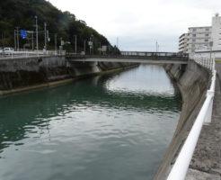 高知県ヒラメ釣りポイント 舟入川美術館通り